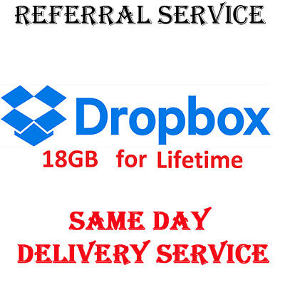 16 Gb Space Dropbox Upgrade Service Storage Expansion For Lifetime In 1 Days