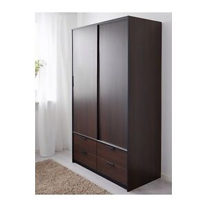TRYSIL WARDROBE w SlLIDING DOORS/4 DRAWERS From IKEA West Ryde Ryde Area Preview