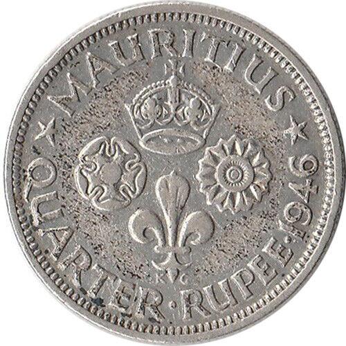 1946 Mauritius 1/4 Rupee Silver Coin KM#18a