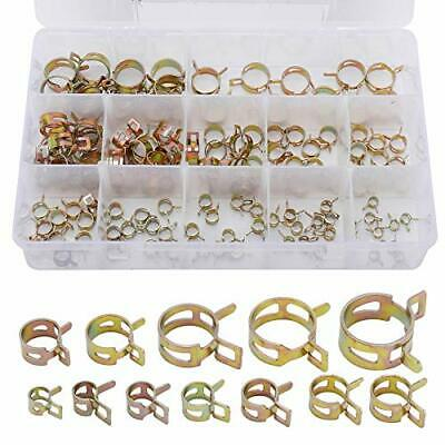 Tysun 120 Pcs Spring Band Type Clips Fuel Silicone Vacuum Hose Pipe Clamp Low...