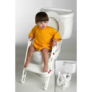 New Toilet Trainer Potty Seat Step Ladder Folding Toilet