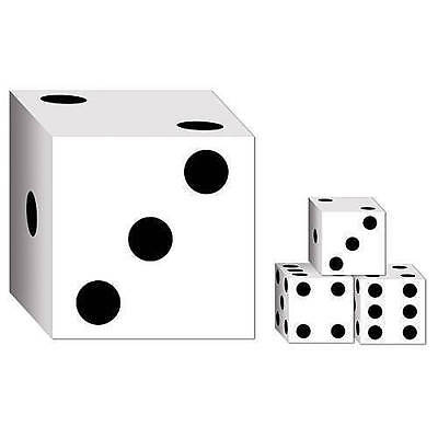Casino Dice themed party favor boxes, set of 6