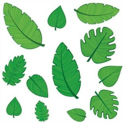 Tropical Leaf Cutouts Jungle Safari Party Supplies Wall Decorations](Jungle Leaf)