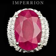 Ruby Diamond Ring White Gold