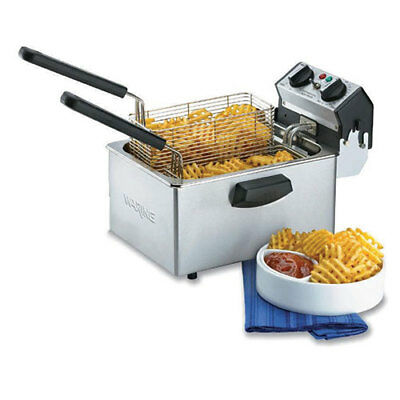Waring Wdf75rc Countertop Fryer - Electric 8-12 Lb. Oil Cap. 120v