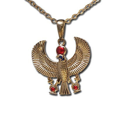 EGYPTIAN GOD HORUS FALCON ANKH NECKLACE PENDANT. TOP PREMIUM JEWELRY GIFT J213 - Egyptian Gifts