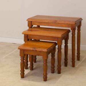3 PCE TURNING LEG NEST TABLE Villawood Bankstown Area Preview