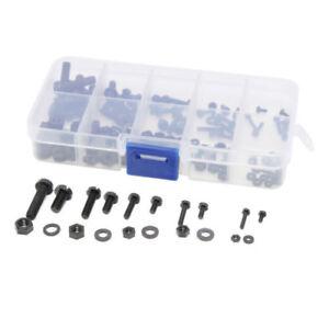 New 150pcs M2 M2.5 M3 M4 M5 Nylon Screw / Nut / Washer Assortment Kit