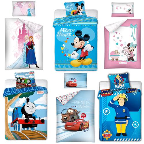 Baby Kinder Bettwäsche 100x135 cm Frozen Minnie Mickey Winnie Pooh Cars Disney
