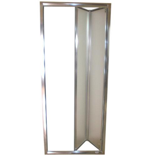 Box doccia nicchia 70 80 90 100 porta pieghevole libro soffietto cristallo opaco