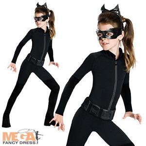 catwoman girls costume mask superhero dark knight batman childs fancy dress ebay. Black Bedroom Furniture Sets. Home Design Ideas