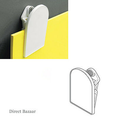 Self Adhesive White Plastic Jumbo Clip, for Board, logo, message /Size:75x50mm