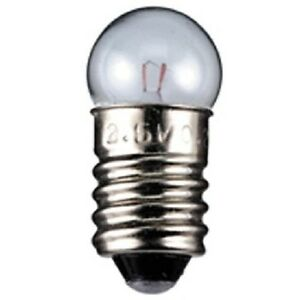 Kugelförmige Lampe, E10, 12 V, 1,2 W, 10er Pack, Glühlampe, Glühbirne