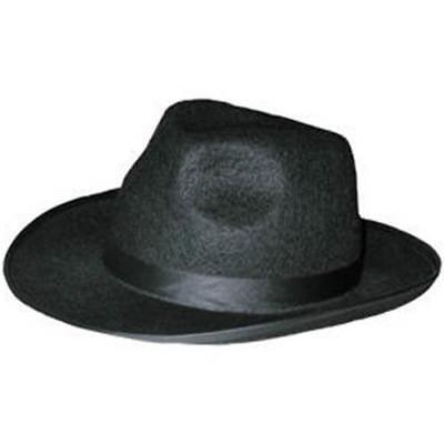 MAFIAHUT - Hut Al Capone, schwarz,  Bogarthut, Gangsterhut - (Schwarz Gangster)