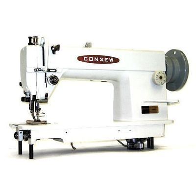 New Consew 205rb Walking Foot Sewing Mach W Servo 34hp Motor And Kd Table Comp