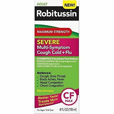 Robitussin Maximum Strength Severe Multi-Symptom Cough Cold+