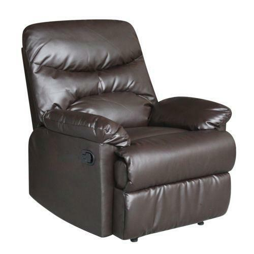 Brown Leather Recliner Furniture Ebay