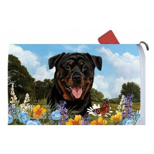 Magnetic Mailbox Wrap (Summer) - Rottweiler 56002
