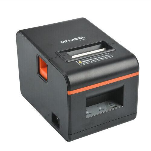 MFLABEL Thermal Receipt POS Professional Printer with USB LAN Seriel Port