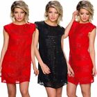 Chiffon Short Dresses for Women with Sequins