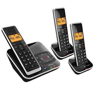 BT XENON 1500 TRIO DIGITAL CORDLESS HOME TELEPHONE & ANSWERING MACHINE