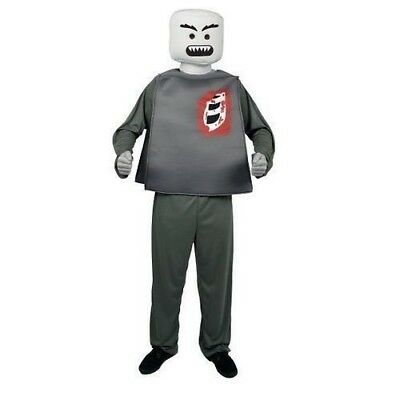Mr. Blockhead Zombie Morph Costume LEGO Mini-Figure Halloween Adult One Size
