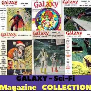 Galaxy Science Fiction Pulp Magazine Collection Retro Vintage - 162 Issues DVD's