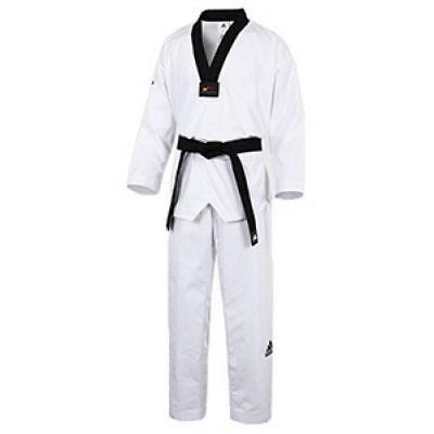 ADIDAS WTF Uniform NEW ADI-CHAMP 2 Taekwondo TKD Uniform Dobok Korea Black W M_o