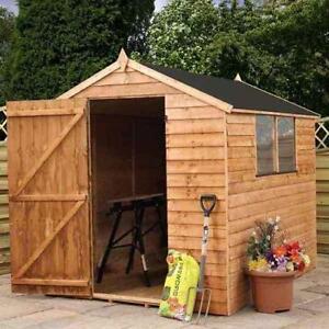 Wooden garden sheds ebay for 14x8 garage door
