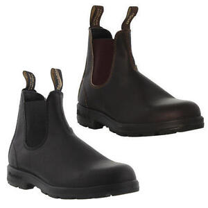 Blundstone-510-500-Mens-Brown-Black-Leather-Chelsea-Ankle-Boots-Size-UK-7-12