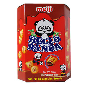 HELLO PANDA CHOCOLATE FLAVOUR FILLING BISCUITS - 10 X 26G