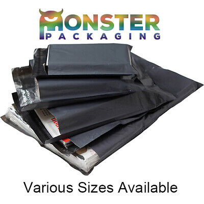 80 Large Mixed Grey Mailing Postal Bags 58mu- 20 Each Of 16x21 17x24 22x30 28x34