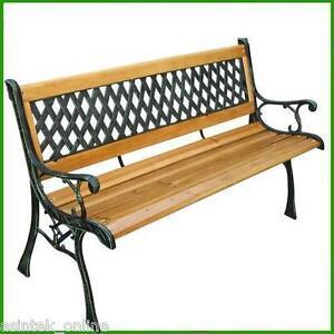 panchina in legno e ghisa da giardino panca arredamento On panca contenitore in legno da esterno
