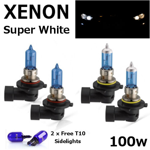 HB3 HB4 100w BRIGHT SUPER WHITE XENON LOOK UPGRADE Head Light Bulbs 12V B