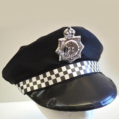 NEW! Security Guard Police Officer Policeman Hat Cap Costume Uniform Play Dress - Costume Police Hat