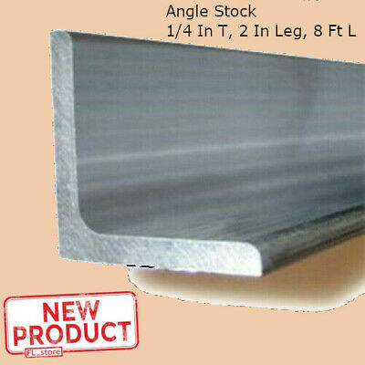 Aluminum Angle 14 Inch X 2 Inch X 8 Ft Smooth Unpolished Metal Alloy Stock New
