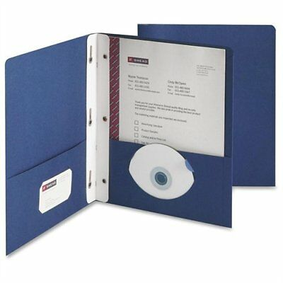Smead 88054 Dark Blue Two-pocket Heavyweight Folders With Tang Strip Style
