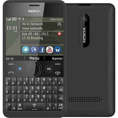 Brand New Nokia Asha 210 - Black (Unlocked) Mobile Phone  Facebook Qwerty