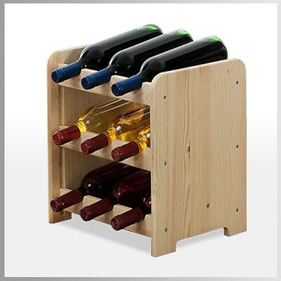Rw-3 Farbe (Weinregal Flaschenregal*Weinschrank  für 9 Flaschen Holz Kiefer RW-3-9 /3 FARBEN)