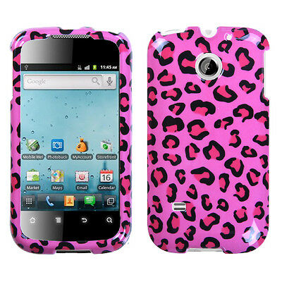 For Huawei T Mobile Prism Hard Protector Case Snap On Phone Cover Pink Cheetah