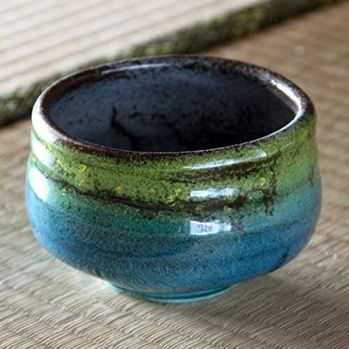 Matcha Bowl Kutani ware pottery Ceramic Chawan Japanese Tea Ceremony Cup