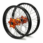 Orange Painted Motorcycle Wheels and Rims