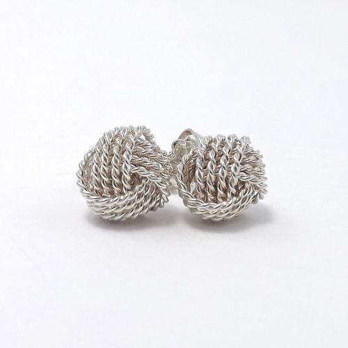 Tiffany Heart Bracelet >> Tiffany Knot Earrings | eBay