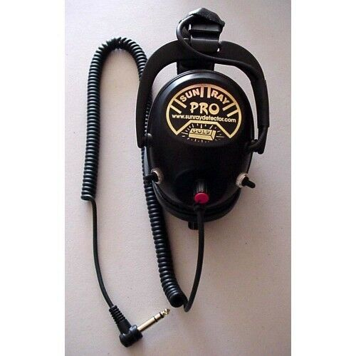 Sun Ray Pro Gold Headphones for the Minelab CTX 3030 Metal Detector - Free SHIP