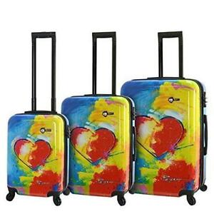 Mia Toro Hardside Spinner Luggage 3 Piece Set, Prado-in Love