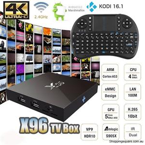 X96 2GB/16GB, Kodi Android Box/Keyboard -1YR SWAP WARRANTY!- Mullaloo Joondalup Area Preview