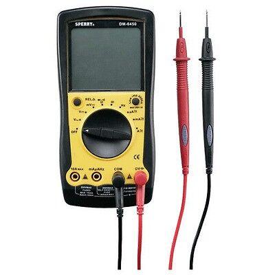 Sperry Dm6450 Digital Multimeter Auto Range 9 Function Electrical Tester