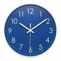 Epy Huts Wall Clock Battery Operated Indoor Non-Ticking Silent Quartz Quiet S...