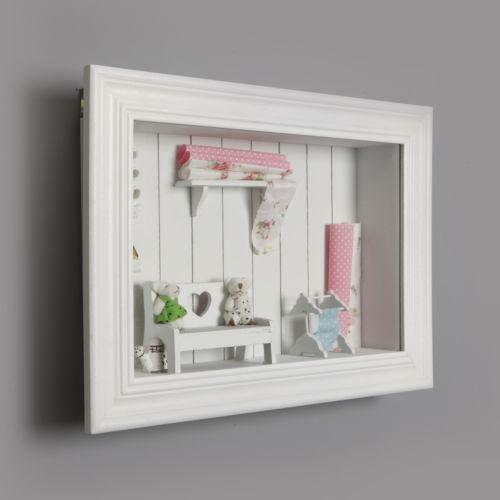 White shabby chic frame ebay for Shabby chic frames diy