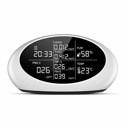 Indoor Air Quality Monitor Multifunctional Air Detector PM2.5/PM10/HCHO/TVOC
